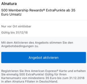 Bis Zu 500 Membership Rewards Punkte Mit Alnatura Reisenmitpunktende