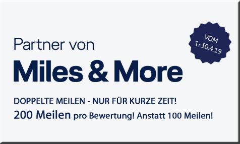 Im April 200 Miles & More Meilen Pro Hotelbewertung bis 2000 Meilen Details