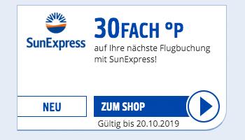 30Fach PAYBACK Punkte für Flugbuchungen bei SunExpress Gutschein