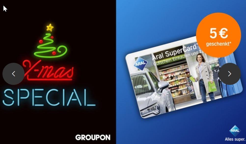 Mit Aral SuperCard und Groupon 900 PAYBACK Punkte sammeln