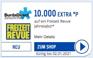 Freizeit Revue 10.000 PAYBACK Extra Punkte für 111 EUR Coupon