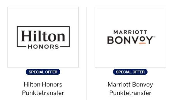 30 % Transfer Bonus von Membership Rewards zu Hilton Honors und Marriott Bonvoy Oktober 2021 BG